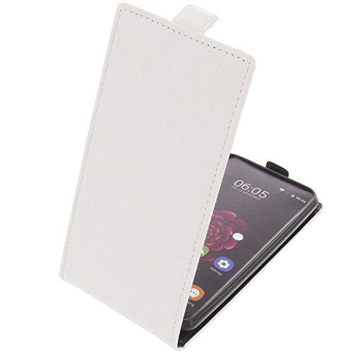 foto-kontor Tasche für Oukitel U20 Plus Smartphone Flipstyle Schutz Hülle weiß