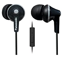 Panasonic RP-TCM125 Ergo Fit Stereo Headset (Black)