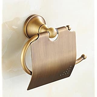 SUNNY KEY-Toiletten papier halterung@WC-Rollenhalter Messing, antik Wandmontage 130*119mm(5.11*4.68inch) Messing Antik