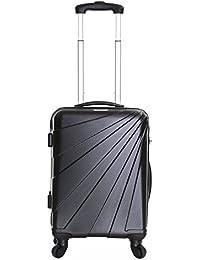 Slimbridge Fusion Bagage Rigide Cabine à Main Valise 55 cm 2,5 kg 35 Litre 4 roulettes Noir