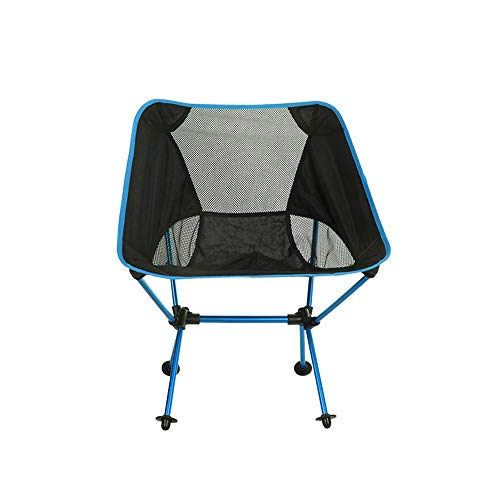 Outdoor Folding Chair Lightweight Portable Camping Chair Multi-Function Backpack Chair Suitable for Hikers Beach Fishing Leisure Sketching Backpack Seat WUHX,Blue