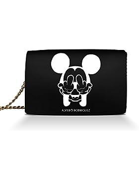 Borsa Donna Alviero Rodriguez F***K Mouse Queen in Vera Pelle