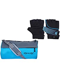 Fashion7 Duffle Polyester Gym Bag Combo Set - Free Gym Gloves With Wrist Support For Fitness Freaks