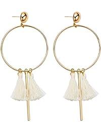 fdc398b09d97 pendientes de borla pendientes de oro rosa mujer plata niña pendiente boda  fiesta circonita