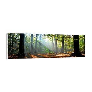 Bild auf Glas – Glasbilder – Einteilig – Breite: 90cm, Höhe: 30cm – Bildnummer 0136 – zum Aufhängen bereit – Bilder – Kunstdruck – GAB90x30-0136