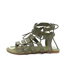LuckyGirls Sandalias Mujer Verano Chancleta Casual Vacaciones Zapatillas Chanclas Romano Estilo Moda Zapatos de Cordones(