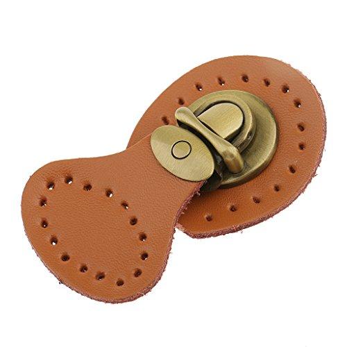 SharPlace Buckle Leather Bag Lock Accessory DIY DIY Tool - Brown