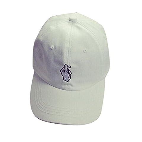 Traumzimmer Unisex Fashion Baseball Caps Hip Hop Finger Sun Caps Verstellbar