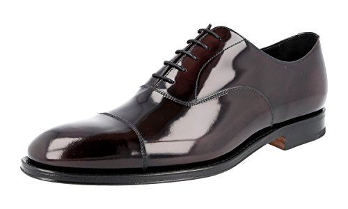 Prada 2EB129 055 F0397, Herren Mokkasins, Braun - Cordovan - Größe: 43 - Kleid Schuhe Männer Prada