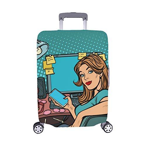 Geschäftskonzept Startup Geschäftsleute Muster Spandex-Staubschutz Trolley Protector case-Koffer Reisegepäck-Schutzkoffer-Abdeckung 28,5 X 20,5 Zoll