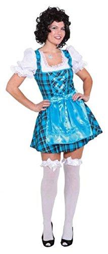 Ladies Blue Tavern Girl Oktoberfest German Bavarian Serving Wench Beer Girl National Dress Fancy Dress Costume Outfit (UK 8 (EU ()