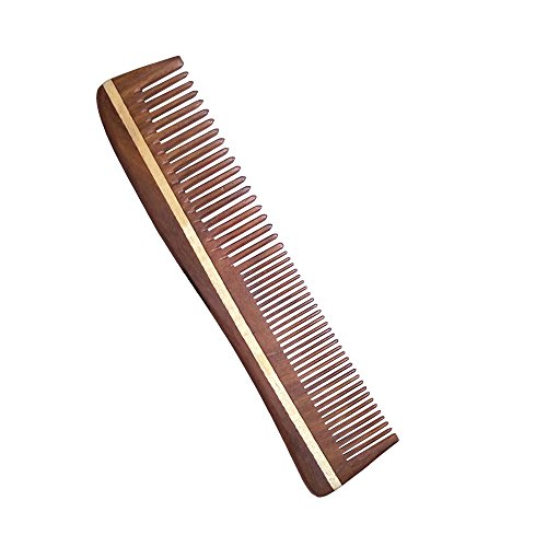 Simgin wide tooth wooden comb - (NEWLY LAUNCHED-Limited period availability) Neem Wood Comb (Long hair comb, for men, for women)- (Handmade, 100% Natural)- S-P  available at amazon for Rs.189
