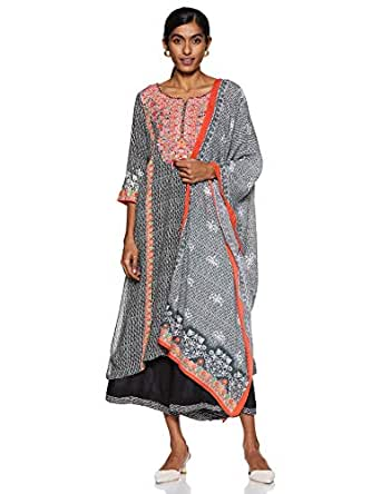 BIBA Women's Modal straight Salwar Suit Set