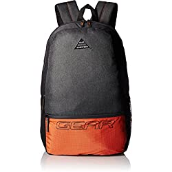 Gear 24 Ltrs Grey and Orange Casual Backpack (METBPECO60406)