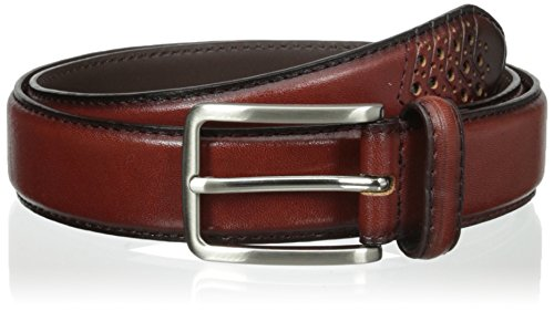 Stacy Adams Men's 32mm Burnished Leather Belt Burnished Cognac