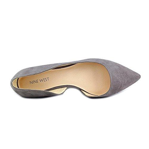 Nine West Saige Femmes Toile Chaussure Plate Grey