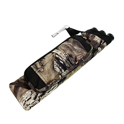 Gazechimp Seitenköcher mit 3 Pfeilröhren Pfeilköcher Pfeilaufbewahrung Bogenpfeile Köcher für Bogenschießen Bogensport - Camouflage