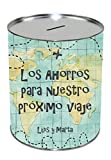 Kembilove Hucha de Metal Personalizada con Nombres - Huchas para ahorro para Viaje - Huchas...