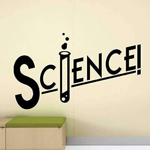 guijiumai Wissenschaft Zeichen Wandtattoo Klassenzimmer Poster Wand Vinyl Kunst Aufkleber Chemie Dekor Teens Zimmer Schlafzimmer Aufkleber Dekoration grau 70X42 cm (Teen Dekor Zimmer)