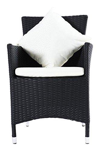OUTFLEXX 2er-Set Sessel aus hochwertigem Polyrattan in schwarz ca. 60 x 60,5 x 86,5 cm, inkl....
