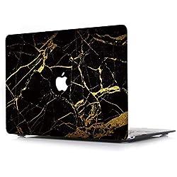 L2W Coque Rigide pour Apple MacBook Air 13,3 Pouces Modèle A1466/A1369 Ordinateur Portable Accessoires Plastique Housse Marbre Désign Cover Motif 35
