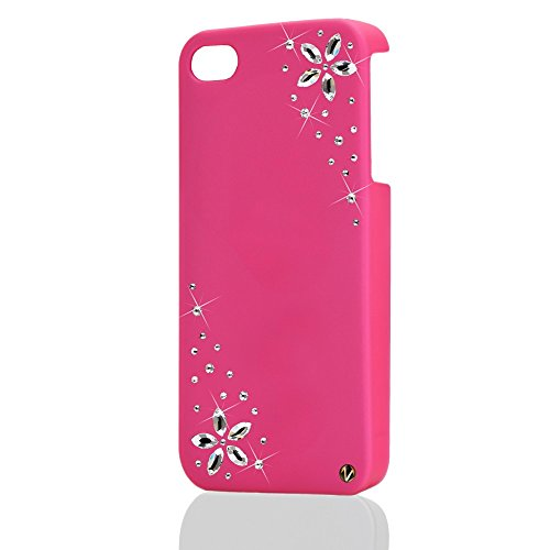 mobr Illz iPhone 4/4S custodia cover slim Made with Swarovski® Elements Flower Power Crystal-Colore a scelta