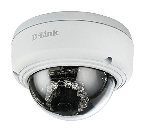 D-Link DCS-4602 Überwachungskamera (für den Innen- und Außenbereich, Aufzeichnungen in Full HD-Qualität, Tag und Nacht, integrierte LED-Beleuchtung, PoE) weiß