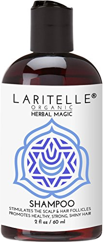 Laritelle Organic Travel Size Shampoo 2 oz | Hair Loss Prevention, Clarifying & Strengthening | Rosemary & Saw Palmetto | NO GMO, Sulfates, Alcohol, Parabens, Phthalates | Unscented. Hypoallergenic GF -