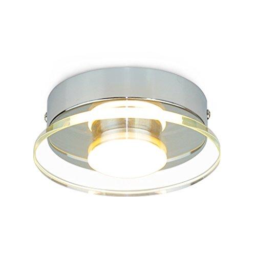 Rund Wandleuchte Deckenlampe 7W Moderne Flur LED Lampen Kreative Design Wand und Decken Leuchte Glas Lampenschirme Wandlampe Deckenleuchte für Wohnzimmer Schlafzimmer Korridor Schönes Dekor, Ø135mm , warmweißes