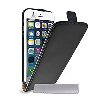 Caseflex iPhone 6 Tasche Schwarz Echt Leder Klapp Hülle (B00MUSZJTM) | Amazon price tracker / tracking, Amazon price history charts, Amazon price watches, Amazon price drop alerts