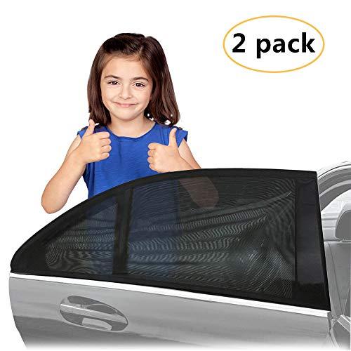 AODOOR Tendine Parasole Auto, Tendine Parasole Auto Bambini (2 Pezzi) Protegge Bambini e Animali Domestici - Facile Installazione, Si Addice Auto e SUVs (Versione di aggiornamento)