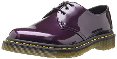 Dr. Martens Airwair Usa Llc -- Women's 1461 Lace-Up Fashion Sneaker,Purple Patent,6 UK/8 M US