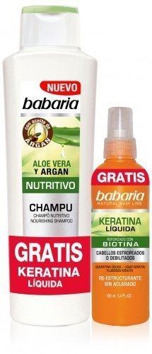 Babaria Aloe Vera Argan Shampoo 400ml e frisier Spray cheratina