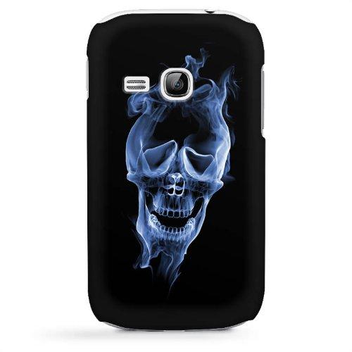 S6310 Hülle Schutz Hard Case Cover Halloween Skull Rauch (Halloween-rauch-effekte)