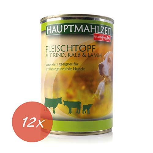 Nassfutter Hund I Hundefutter in Verschiedenen GeschmacksrichtungenI 12 x 410 g I Alleinfuttermittel...