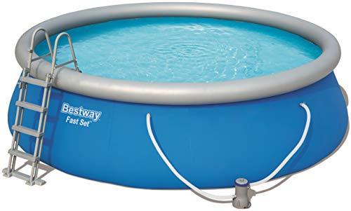 Bestway Fast Set Pool rund und selbstaufbauend im praktischen Komplett-Set, 457x122 cm