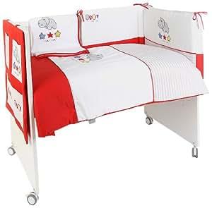 naf naf set 4 pi ces couette tour de lit vide poches couverture hippo b b s. Black Bedroom Furniture Sets. Home Design Ideas
