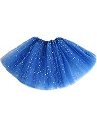 JXUFUFOO Girls Sequins Tutu Skirt Layered Tulle Ballet Dance Party Dress up