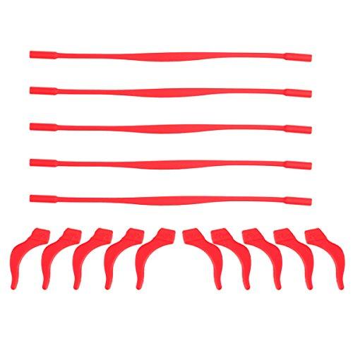 Healifty Silicone antiscivolo per occhiali e ganci per blocco auricolare Kit Silicone elastico per occhiali per fermo per bambini 5 set (rosso) preisvergleich