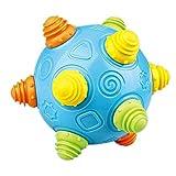 Jumping Ball Toy, Baby Jumping Ball Jouets éducatifs avec des lumières LED clignotantes et 2 types de mode de battement pour les nouveau-nés 1-2-3 ans Enfants garçons et filles, 6-12 mois Baby