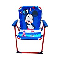 takestop® Disney Folding Chair Mickey Mouse Mouse Blue Red for Children Children Children Children Camping Beach Beach Garden Metal and Plastic with Lightweight Portable Arms 53 x 38 x 39 cm