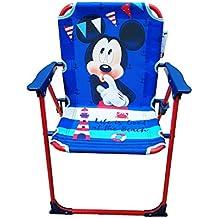 Takestop Chaise Pliante Mickey Disney Souris Bleu Rouge Pour Enfants Bb Enfant CAMPING Chambre Mer Plage Jardin En Mtal Et Plastique Avec