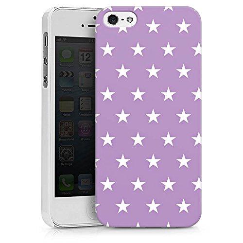 Apple iPhone X Silikon Hülle Case Schutzhülle Sterne Polka Flieder Hard Case weiß