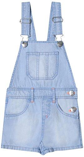 ESPRIT KIDS Mädchen RL2101304 Latzhose, Blau (Bleached Denim 413), 104 -
