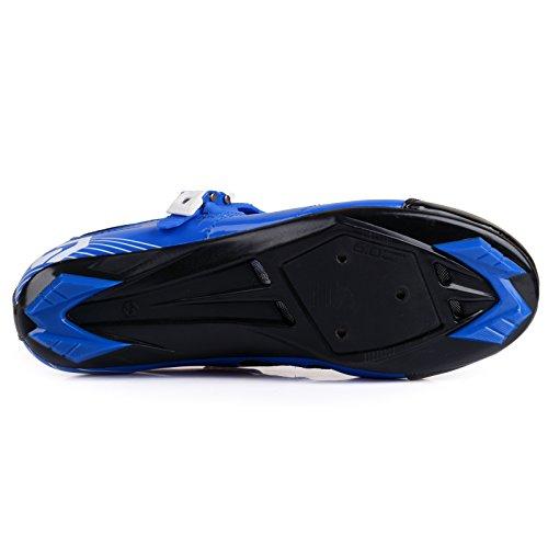 Herren/ Mann Professionelle Radschuhe Rennrad Fahrradschuhe EU Größe 41 Ft 25.5cm Blau/Schwarz (Wählen Sie eine Größe mehr als üblich) - 7