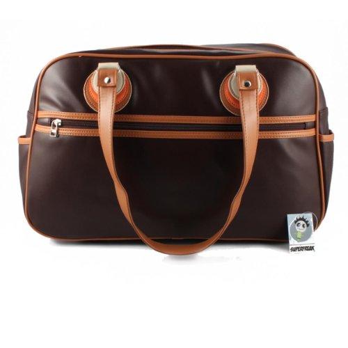 Superfreak® Tasche 70s Up Umhängetasche Serie S-7019, alle Muster!!! Brown-3