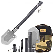 King Kong multi-herramienta pala - azada, hacha, brújula, cuchillo, barra Ferrocerium, acero de carbón alto Durable + aluminio