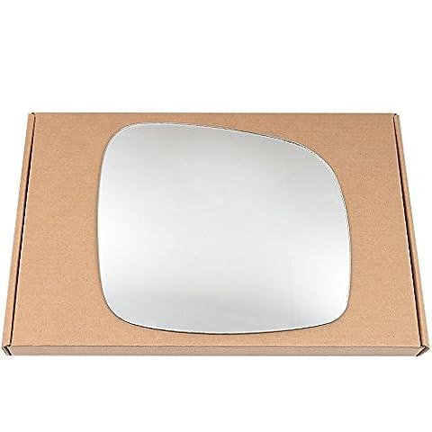 Côté Droit conducteur aile en argent miroir en verre pour