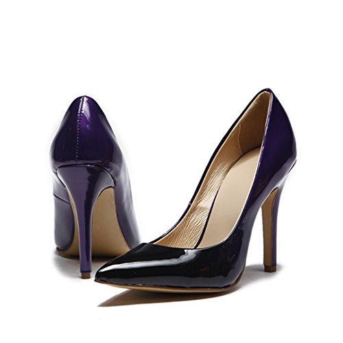 TDA - Sandali con Zeppa donna Black-Purple