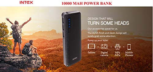 Intex PB 10Ok ION 10000 mAh Power Bank with 3 USB Output BIS Approved Image 2